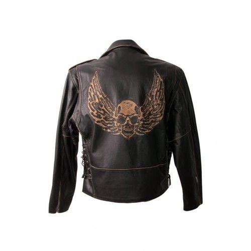 Veste de moto en cuir style...