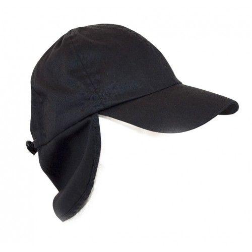 Casquette unisexe avec cache-oreilles couleur noir Kenrod - 1