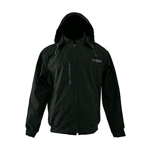 Veste à capuche en néoprène softshell couleur noir Kenrod - 1