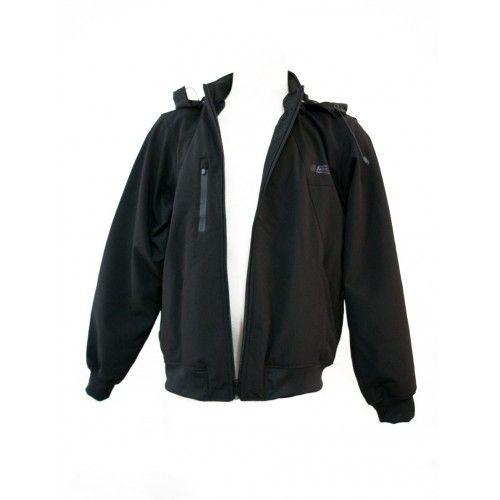 Veste à capuche en néoprène softshell couleur noir Kenrod - 2