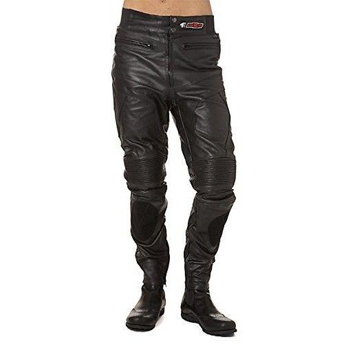 Pantalon moto en cuir avec élastique et protections Kenrod - 1
