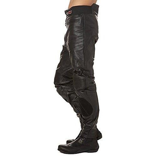 Pantalon moto en cuir avec élastique et protections Kenrod - 2