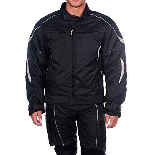 Veste moto cordura à manches longues avec fermetures éclair et poches Kenrod - 1
