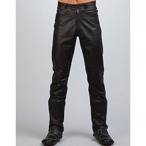 Pantalon en cuir avec poches