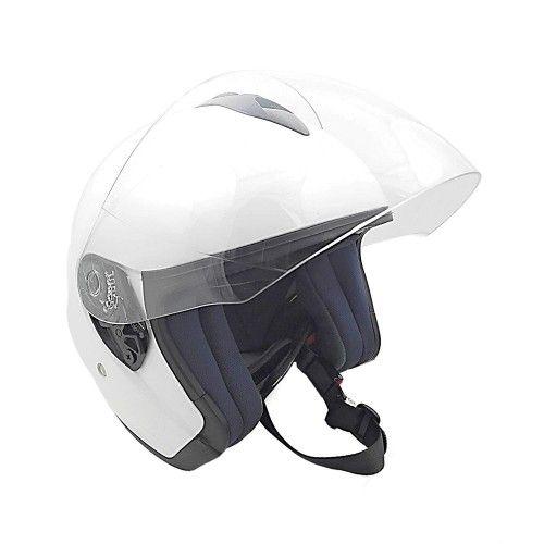 Casque moto style jet couleur blanc Kenrod - 1
