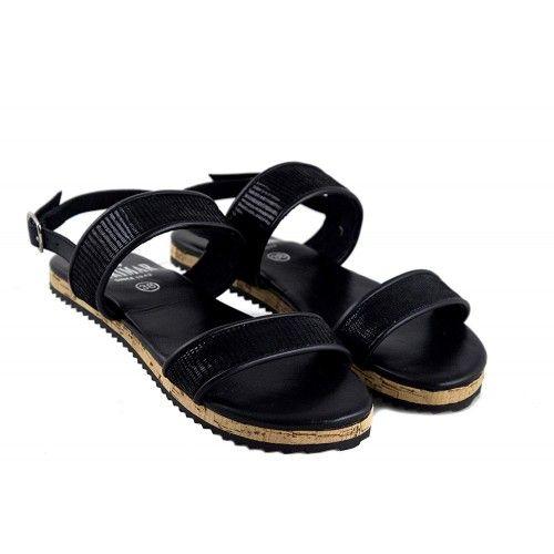 Sandales basses en cuir