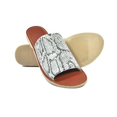 Sandales basses en cuir à...