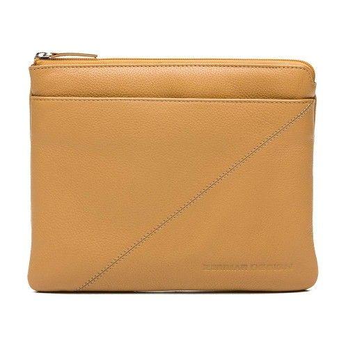 Étui pour tablette et porte-documents en cuir avec zip 23x28 cm Zerimar - 1