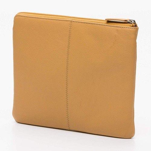 Étui pour tablette et porte-documents en cuir avec zip 23x28 cm Zerimar - 2