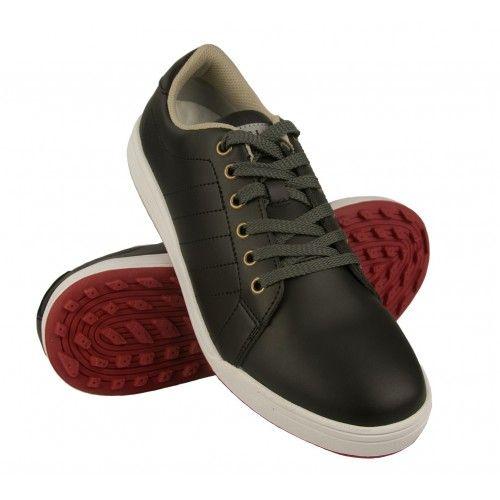 Chaussures de golf en cuir pour homme couleur bleu marine Airel - 1