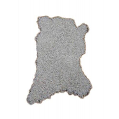 Tapis en peau de chèvre angora 80x55 cm Zerimar - 1