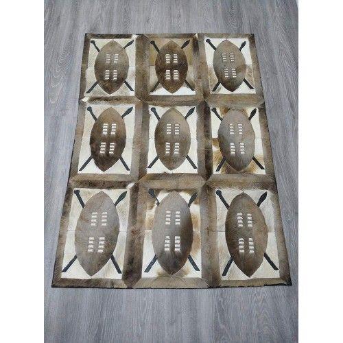 Tapis en peau gazelle naturelle springbok 164x117 cm Zerimar - 2