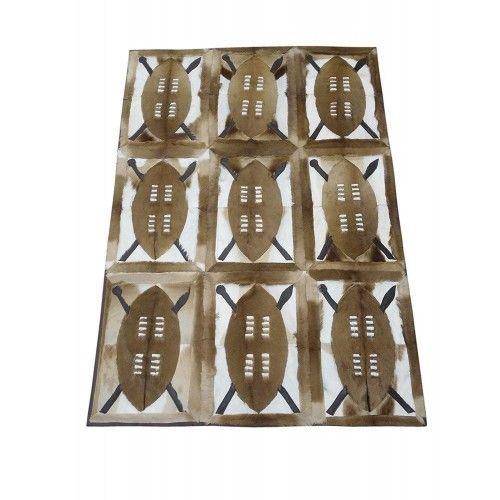 Tapis en peau gazelle naturelle springbok 160x112 cm Zerimar - 1