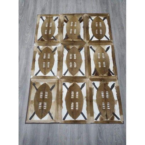 Tapis en peau gazelle naturelle springbok 160x112 cm Zerimar - 2