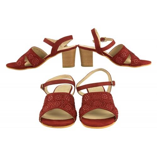 Sandales en cuir à...