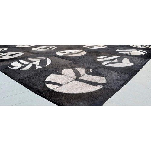 Tapis patchwork en peau de vache 243x300 cm Zerimar - 2