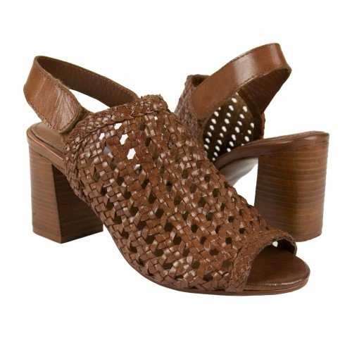Sandales en cuir tressé...