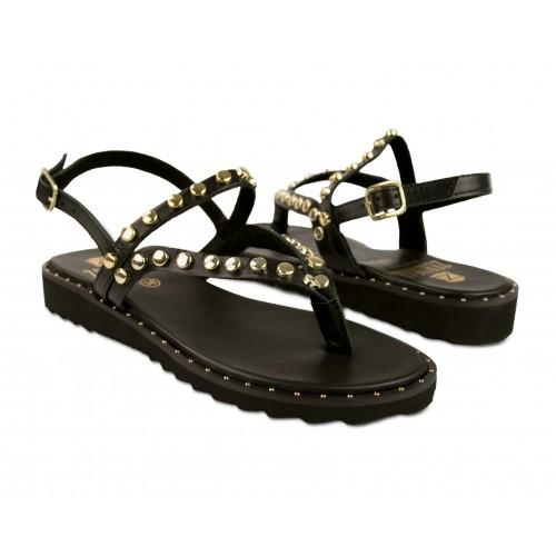 Sandales plates en cuir...
