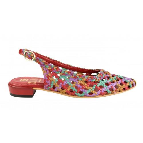 Sandales tressées en cuir...