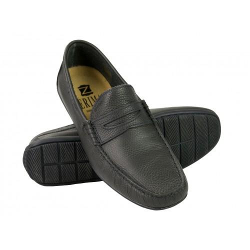 Chaussures bateau en cuir pour l'été couleur bordeau Zerimar - 1