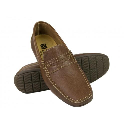 Chaussures bateau en cuir...