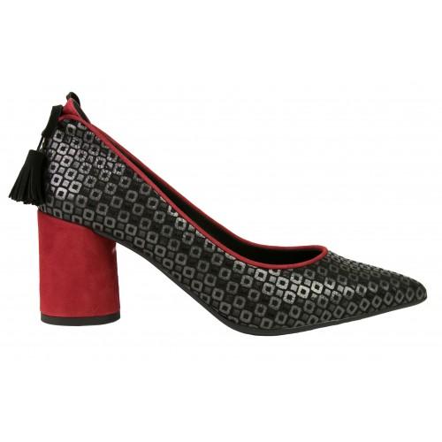 Chaussures en cuir à imprimé mosaïque avec talon Zerimar - 2