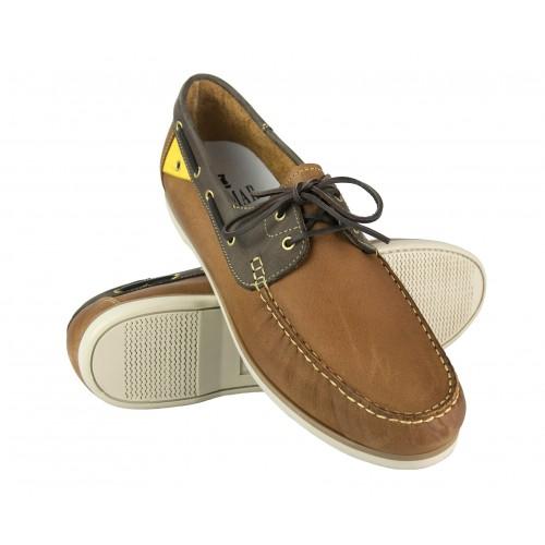 Chaussures bateau en cuir pour homme - grandes tailles 47 à 50 Zerimar - 1
