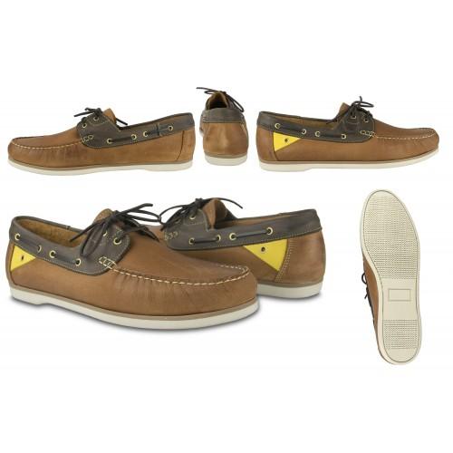 Chaussures bateau en cuir pour homme - grandes tailles 47 à 50 Zerimar - 2