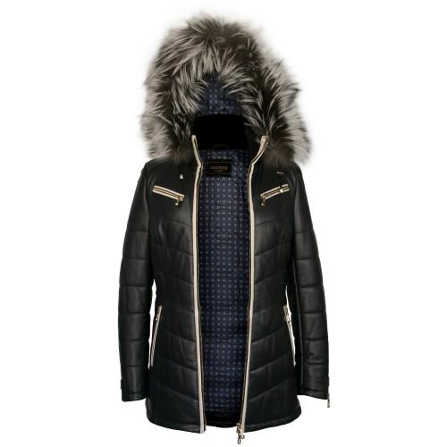 Manteau avec capuche en fourrure de renard et fermeture zippée - Modèle SNOWMAN Zerimar - 2