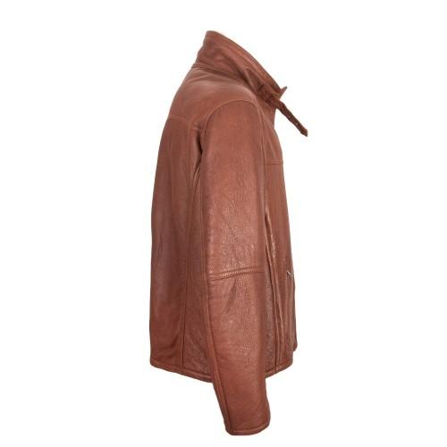 Veste en cuir double face avec fermeture éclair et boucle Zerimar - 2