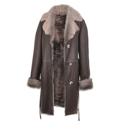 Manteau en peau de mouton...