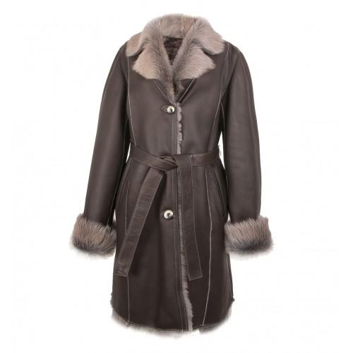 Manteau en peau de mouton finition Napalan avec fermeture boutonnée Zerimar - 1
