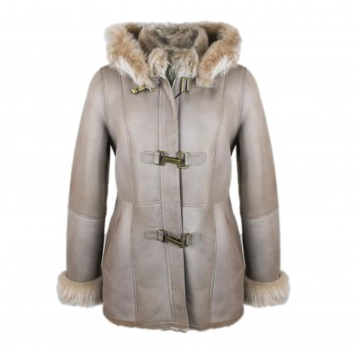 Manteau en cuir parka double face pour femme Zerimar - 1