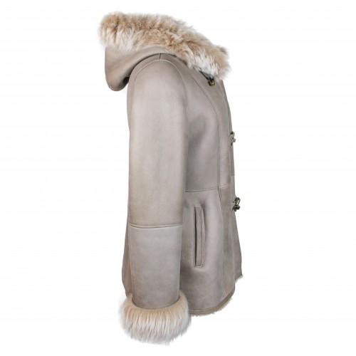 Manteau en cuir parka double face pour femme Zerimar - 2