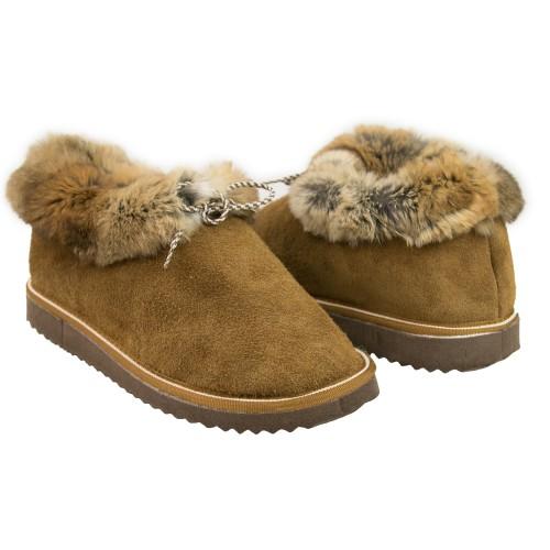 Chaussons d'hiver en cuir...