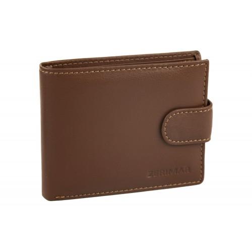 Portefeuille en cuir avec porte-cartes 11,5x9cm Zerimar - 1