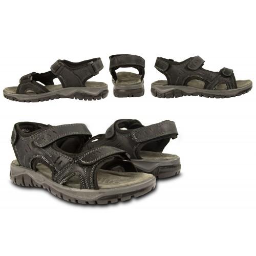 Sandales en cuir STONE avec...