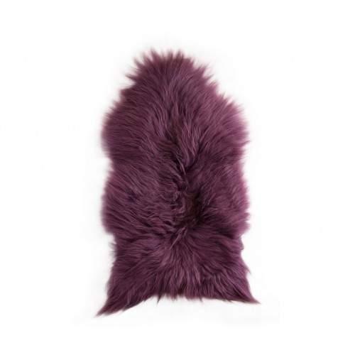 Tapis en agneau naturel 90x60 cm violet Zerimar - 1