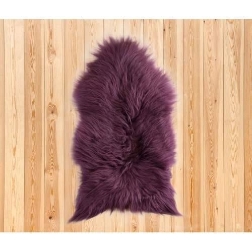 Tapis en agneau naturel 90x60 cm violet Zerimar - 2