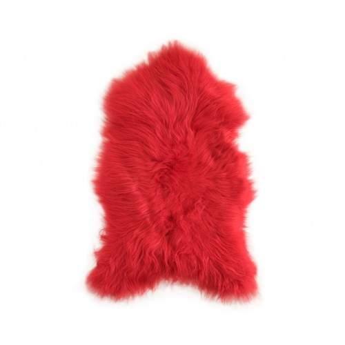 Tapis en agneau naturel rouge 90x60 cm Zerimar - 1