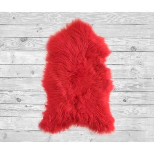 Tapis en agneau naturel rouge 90x60 cm Zerimar - 2