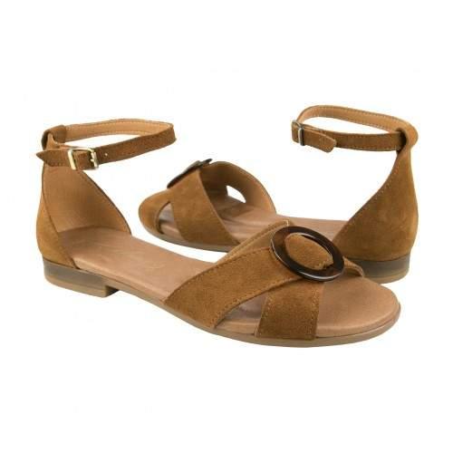 Sandales en cuir nouées à la cheville modèle CERCO Zerimar - 1
