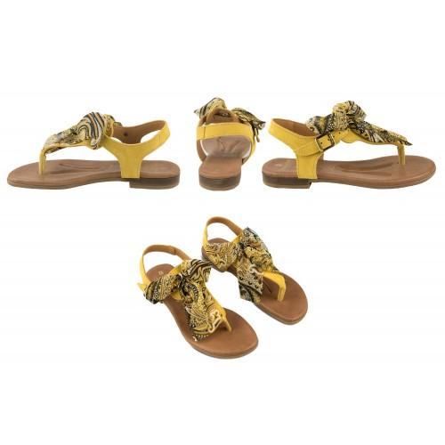 Sandales plates en cuir avec nœud modèle AGRA Zerimar - 2