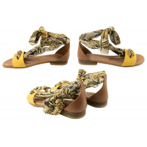 Sandales plates en cuir avec nœud modèle GOA Zerimar - 2