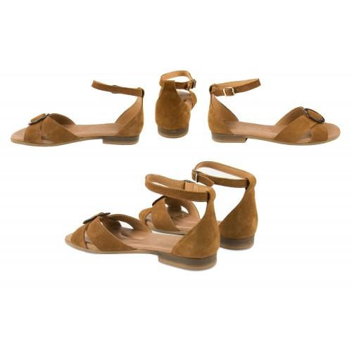 Sandales en cuir nouées à la cheville modèle CERCO Zerimar - 2