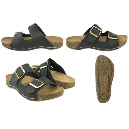 Sandales en cuir à double...
